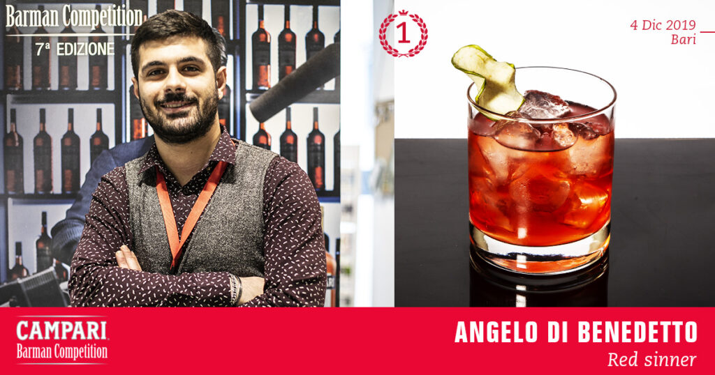 Campari Barman Competition Angelo di Benedetto Red Sinner Coqtail Milano