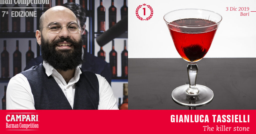 Campari Barman Competition Gianluca Tassielli The killer stone Coqtail Milano