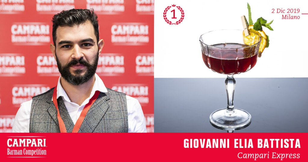Campari Barman Competition Giovanni Elia Battista Campari Express Coqtail Milano