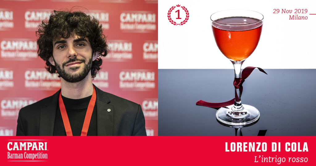 Campari Barman Competition Lorenzo Di Cola L'Intrigo Rosso Coqtail Milano
