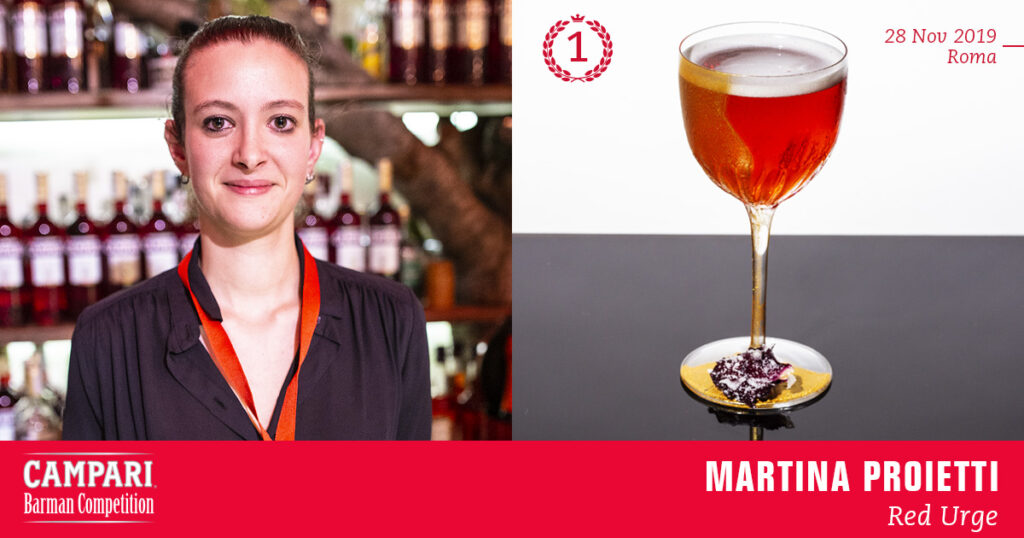 Campari Barman Competition Martina Proietti Red Urge Coqtail Milano