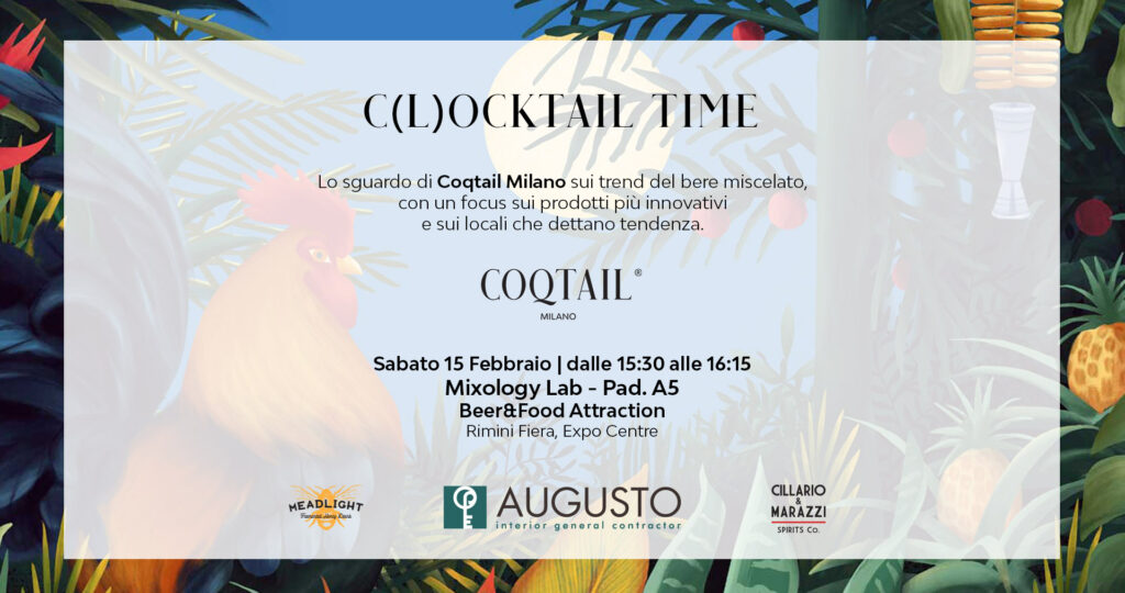 Clocktail-time-tendenze-mixology-cocktail-Beer&Food-Attraction-Coqtail Milano