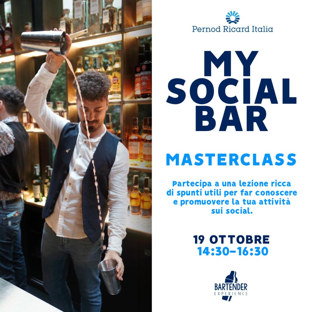 My Social Bar Pernod Ricard 19 ottobre 2020 Coqtail Milano